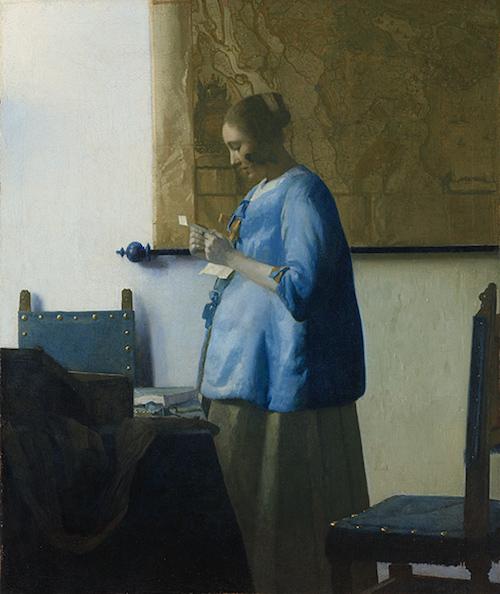 vermeer-blue dress